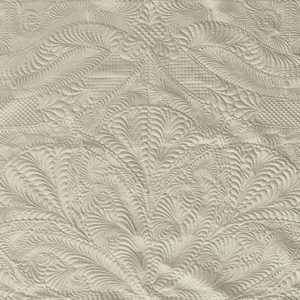 Luxury Whole Cloth Quilt – Cream / Ivory 100% Cotton Sateen – 320 T/C Luxury